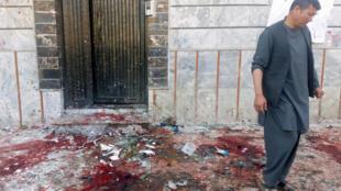 Après un attentat-suicide dans un centre électoral de Kaboul, le 22 avril 2018.