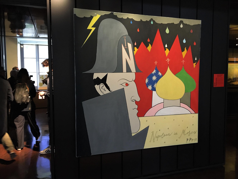 Pavel Pepperstein : « Napoléon à Moscou » (2017) dans l'exposition « Napoléon ? Encore ! » au musée de l'Armée aux Invalides, à Paris.  © Siegfried Forster / RFI