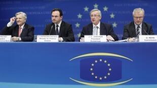 سران کشورهای اروپایی در نشست تصویب کمک به یونان