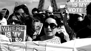 Os imigrantes extraeuropeus não podem votar na França.