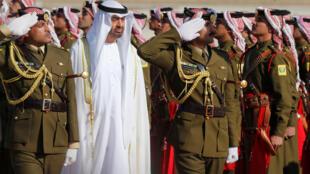 Mwanamfalme Mohammed bin Zayed, hapa akizuru Amman, Jordan, mwaka 2018.