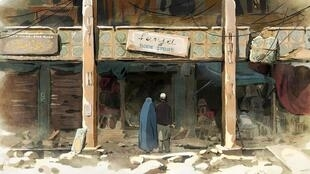 Still from The Swallows of Kabul, animation film in Un certain Regard, Cannes 2019