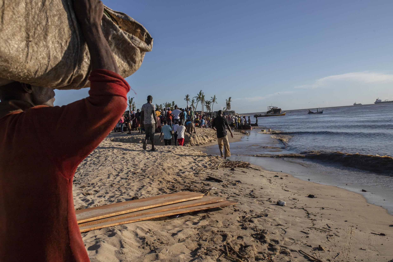 Praia Nova, na cidade da Beira.