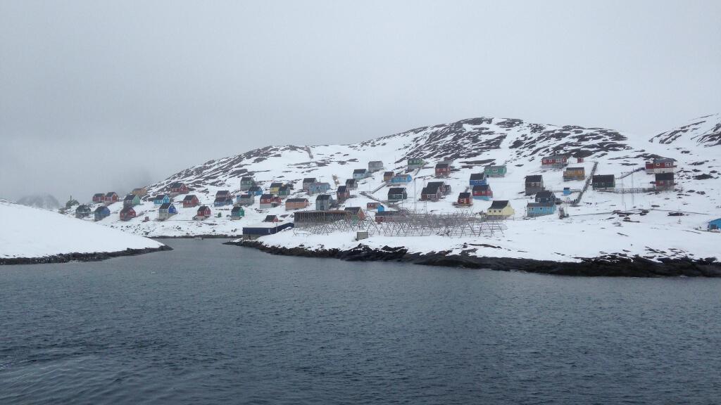 Le village de Kangaamiut, au Groenland.