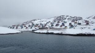 El pueblo de Kangaamiut en Groenlandia.