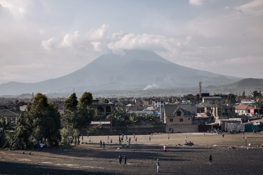 Une vue du volcan Nyiragongo qui surplombe la ville de Goma en RDC (image d'illustration).