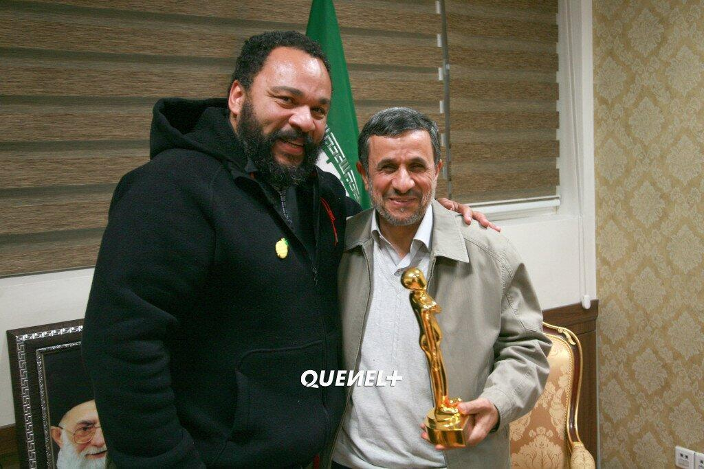 Dieudonné  کمدین فرانسوی و محمود احمدی نژاد در تهران