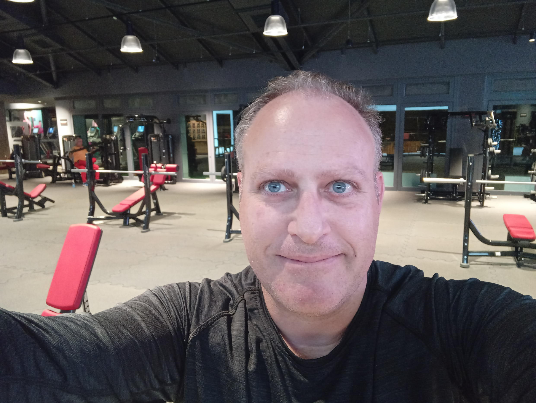 O paulista Marco Faldini na academia de ginástica (Crédito Marco Faldini)