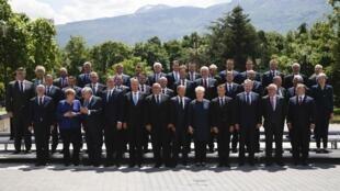 Ảnh chụp chung các lãnh đạo dự thượng đỉnh Liên Hiệp Châu Âu với với các nước Balkan, Sofia, Bulgari, ngày 17/05/2018