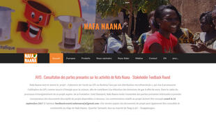 Capture d'écran de la page d'accueil du site Nafa Naana, une start-up du Burkina Faso qui a déjà vendu plus de 56000 équipements de cuisson et d'éclairage solaire.