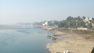 The Chenab River in Akhanoor, India.
