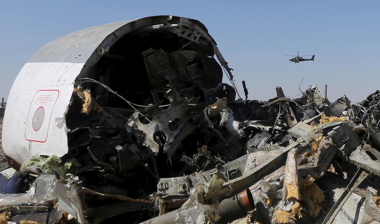 Một phần xác máy bay  A321 bị rơi xuống bán đảo Sianai Ai Cập
