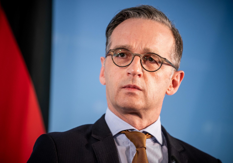هایکو ماس، وزیر امور خارجۀ آلمان، که کشور او اینک ریاست دورهای اتحادیۀ اروپا را بر عهده دارد ـ برلین، ۵ ژوئن ۲۰۲۰
