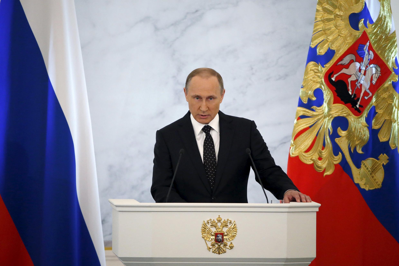 Em discurso sobre o estado da Nação, Vladimir Putin ataca Turquia.