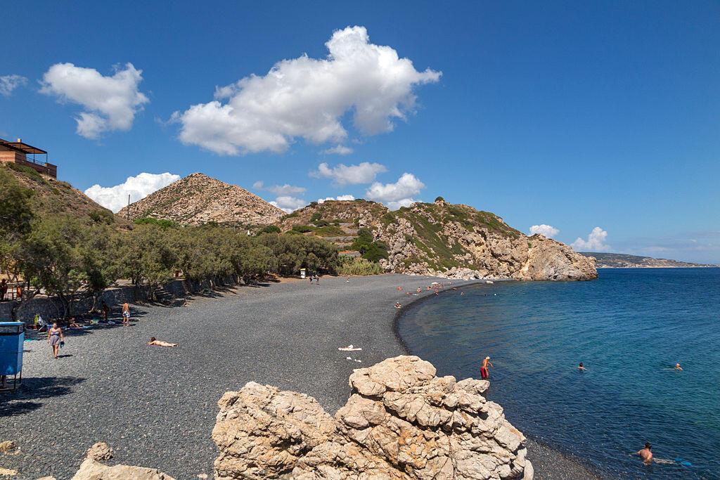 Le villlage Emporio, sur l'île de Chios en Grèce.