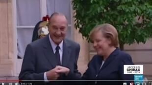 2016年德国总理默克尔与希拉克见面
