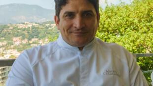 """El chef Mauro Colagreco en su restaurant """"Mirazur"""""""