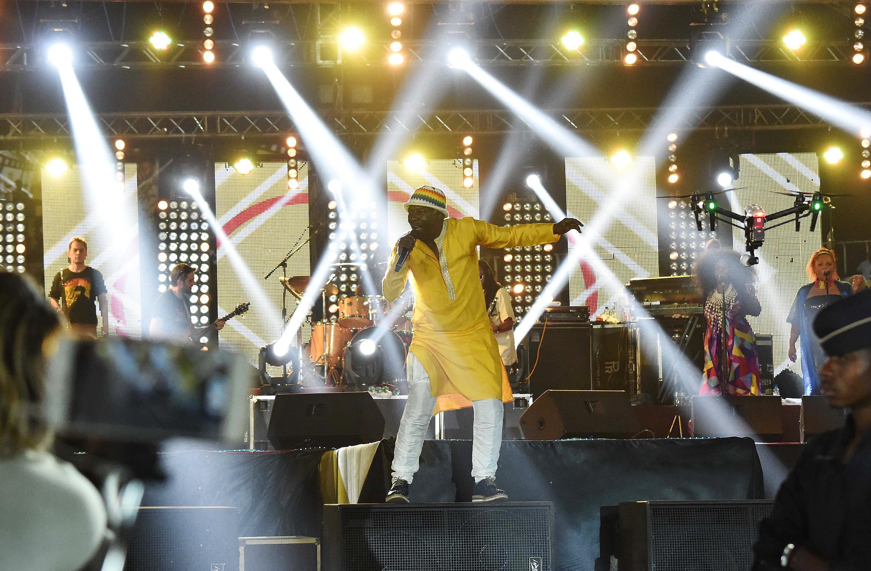 Le chanteur ivoirien Alpha Blondy était le point d'orgue de la cérémonie d'ouverture du 25e Fespaco, le 25 février 2017.