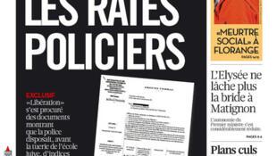 Capa do jornal francês Libération desta terça-feira, (02)