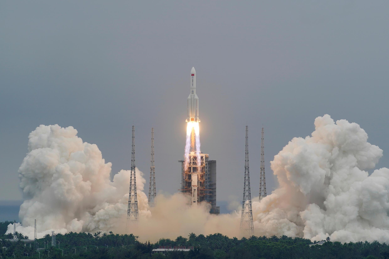 La fusée Long March 5B-Y2, le 29 avril 2021.