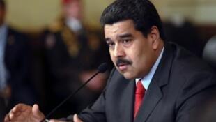 O presidente da Venezuela, Nicolas Maduro, em Caracas no dia 6 de janeiro.