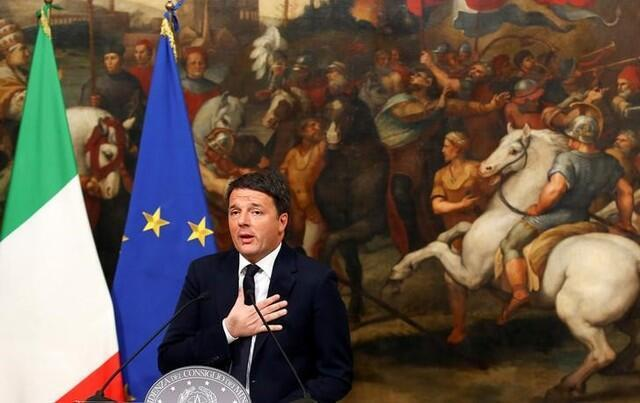 Matteo Renzi anunciou sua demissão do cargo de primeiro-ministro em 7 de dezembro de 2016