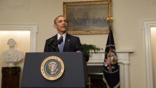 Rais wa Marekani Barack Obama mjini Washington Desemba 12, 2015.
