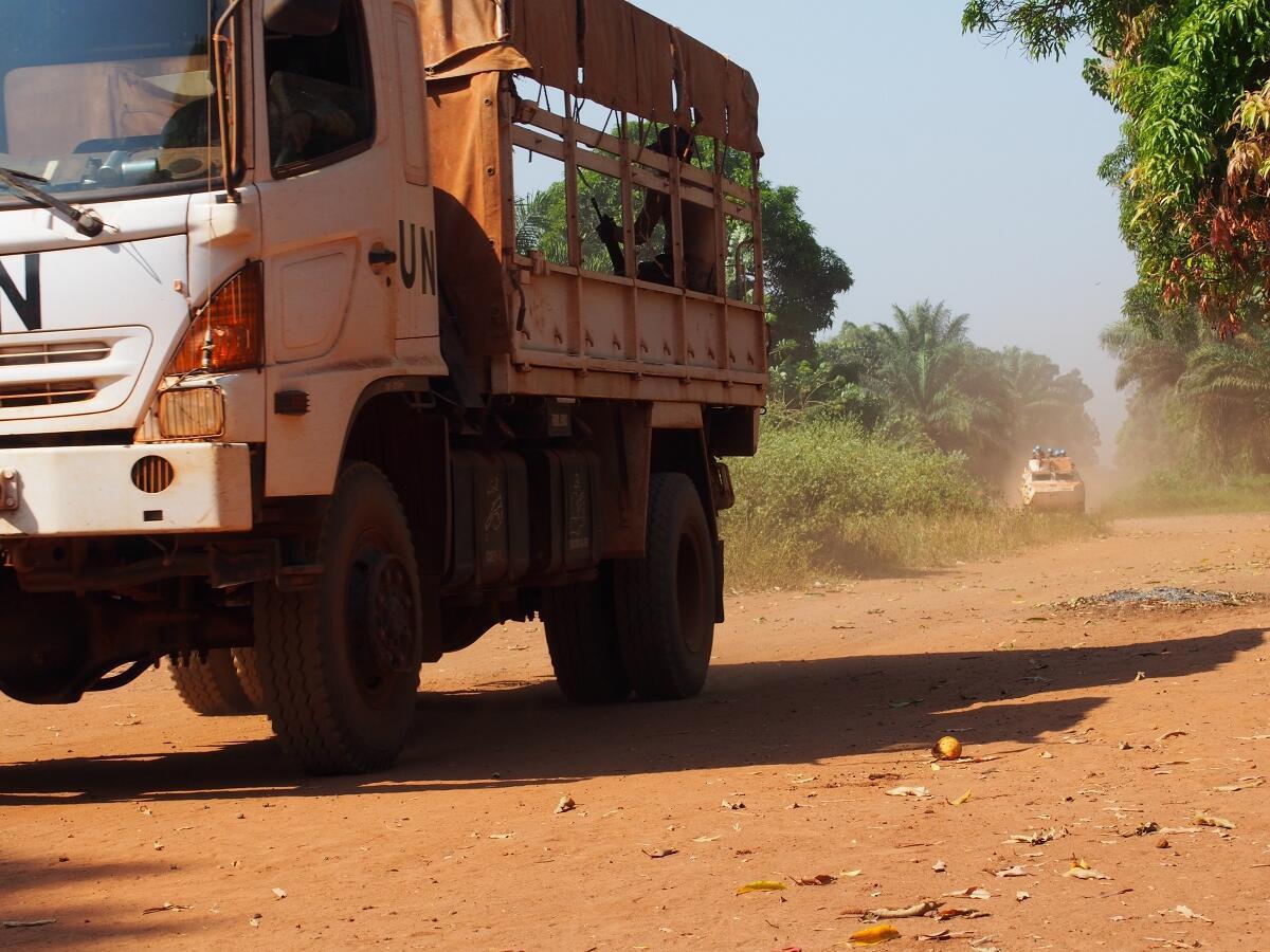 CENTRAFRIQUE - Acheminement matériel électoral 2020