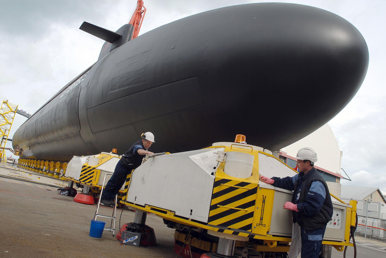 """El modelo encargado por Australia se ha denominado """"Barracuda Block 1A"""". Aquí, un submarino nuclear """"Le Terrible"""", del grupo DCNS, el 20 de marzo de 2008."""