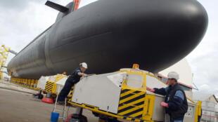 Le modèle commandé par l'Australie a été baptisé «Barracouda à nageoire courte Block 1A». Ici, un sous-marin nucléaire «Le Terrible», du groupe DCNS, le 20 mars 2008.