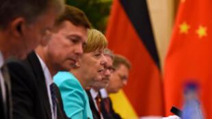 德國總理默克爾6月13日與中國國家主席習近平北京會談
