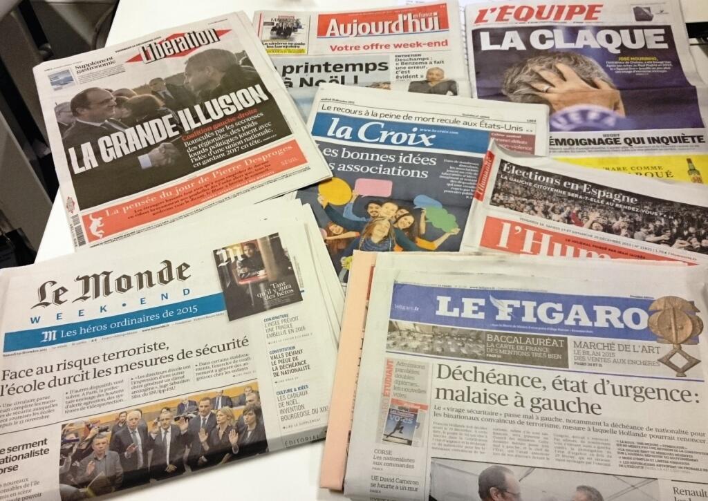 Diários franceses 18/12/2015