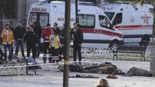 Centro de Estambul tras la explosión de este martes por la mañana que ha dejado varios muertos y heridos
