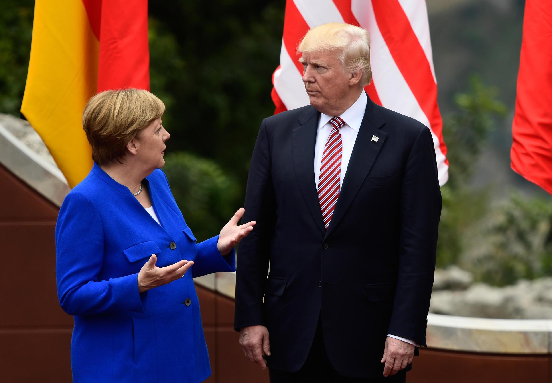 德國總理默克爾和美國總統特朗普 2017年5月 在意大利