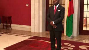 Presidente guineense José Mário Vaz na cerimónia de tomada de posse do governo a 31 de Outubro de 2019.