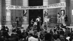 Mayo del 68, en la Universidad de la Sorbona.