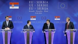 Le Premier ministre serbe Aleksandar Vučić, à Bruxelles, le 21 janvier 2014.