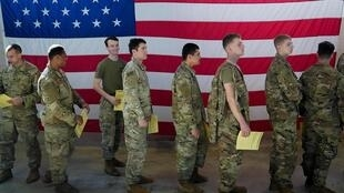 Fort Bragg, Caroline du Nord: troupes américaines se préparant à partir pour le Moyen-Orient, le 5 janvier 2020.