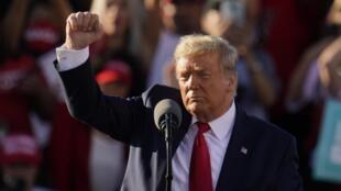 美国总统唐纳德·特朗普2020年10月28日亚利桑那州Goodyear。