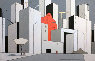 Illustration du dessinateur François Avril, exposition «Kunstruktion» à la Galerie Huberty-Breine.