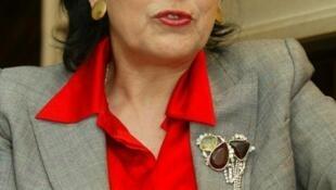La femme politique franco-g2orgienne Salomé Zourabichvili.