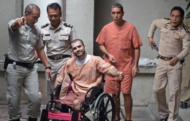دو تن از گروه سه نفرۀ بمب گذاران ایرانی که در دادگاه بانکوک به مجازاتهای سنگین تا حبس ابد محکوم شدند ـ ۲۲ اوت ۲۰۱۳