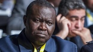 Edouard-Patrice Ngaïssona, ici le 2 février 2018 à Casablanca, est le président de la Fédération centrafricaine de la CAF.