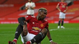 Le milieu de terrain de Manchester United, Paul Pogba, lors de la défaite 1-0 de Manchester United face à Arsenal à Old Trafford, le 1er novembre 2020