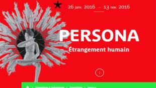 Affiche de l'exposition Persona, actuellement au Quai Branly à Paris.