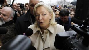 La candidata del Frente Nacional Marine Le Pen, el 7 de enero de 2012.