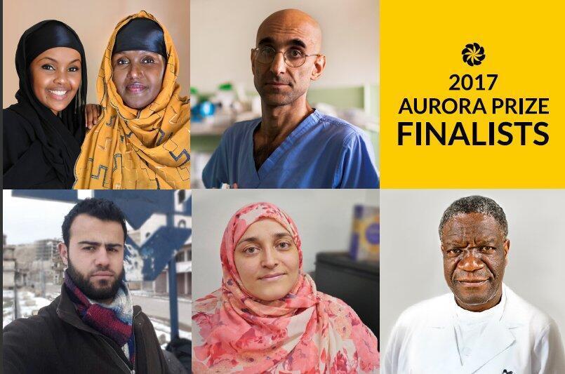Финалисты гуманитарно премии Aurora Prize 2017