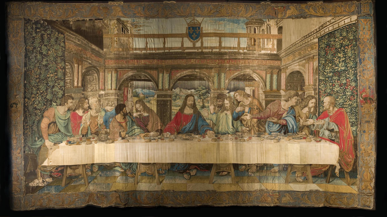 Гобелен «Тайная вечеря» по мотивам фрески Леонардо да Винчи. Коллекция Ватикана. Любое воспроизведение и перепечатка запрещены.