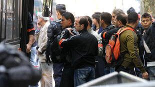 Tunisian immigrants who were expelled, Paris, May 2011