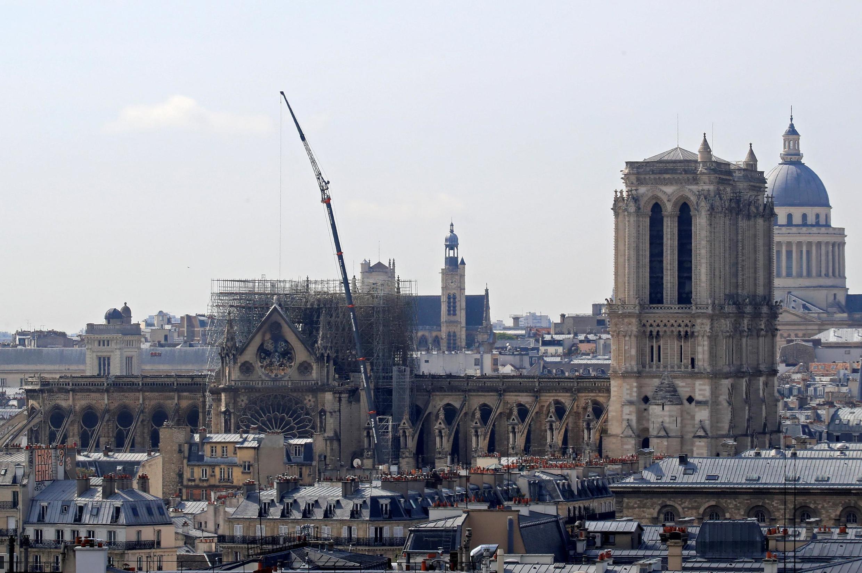 Собор Парижской Богоматери, 17 апреля 2019.